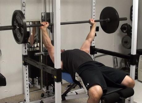 pressing on power rack