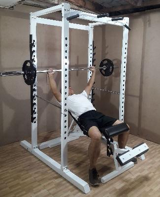 power rack incline bench press