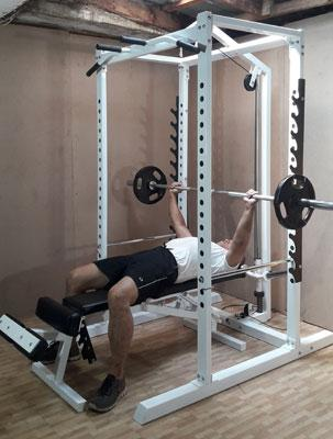 power station supine bench press