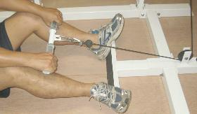 power tower cable row foot-rest