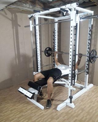 power tower supine bench press